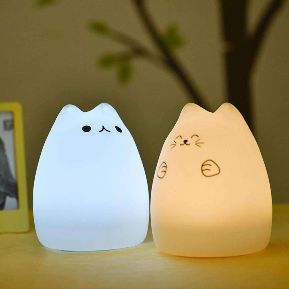 Kitten Cat LED Night Light for Kids SHAPE meets COLOR