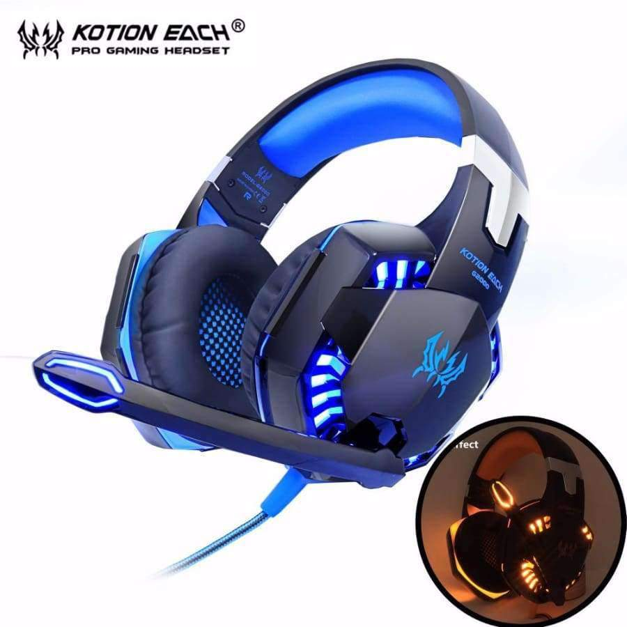 Kotion EACH G2000 Computer Stereo Gaming Headphones - Deep Bass - Mic LED Light SHAPE meets COLOR