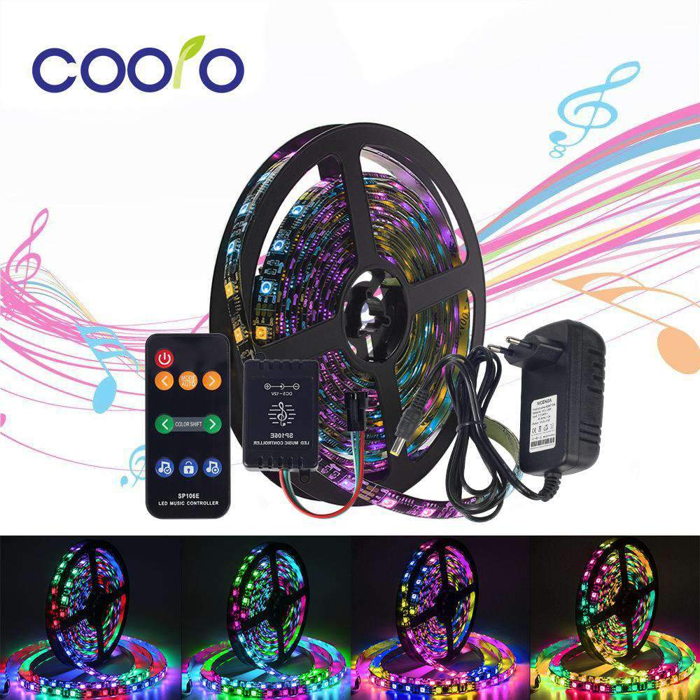 LED Strip Light Set with Music Controller Power Adapter SHAPE meets COLOR