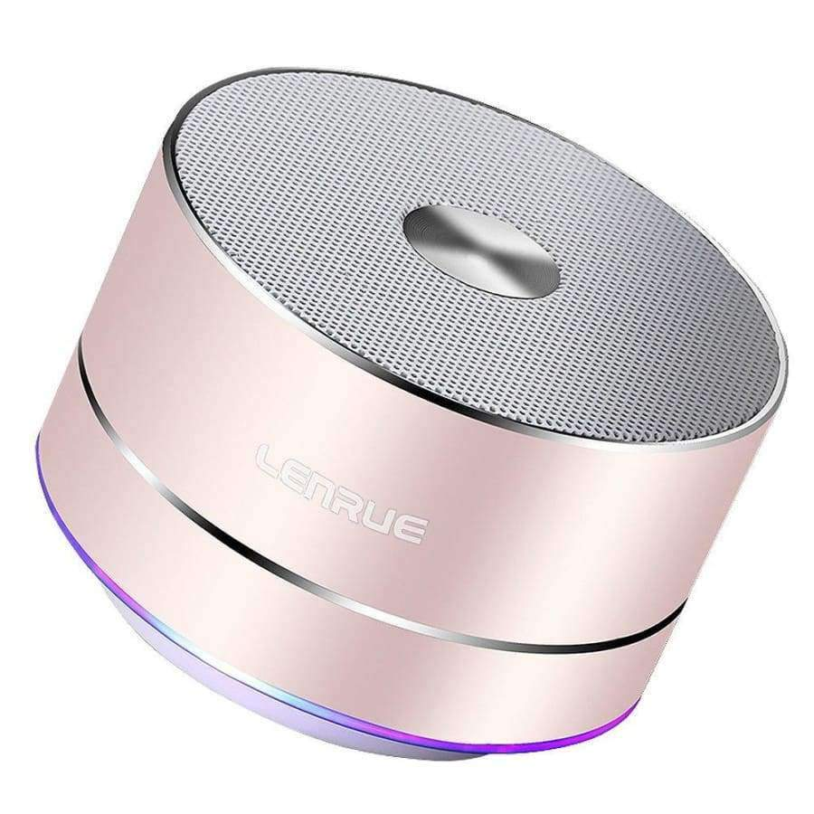 LENRUE Portable Wireless Bluetooth Speaker with Built-In Mic SHAPE meets COLOR