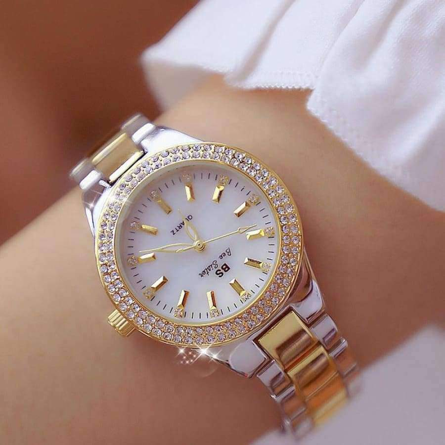 Luxury Lady Crystal Watch - Women's Dress Watch - Rose Gold SHAPE meets COLOR