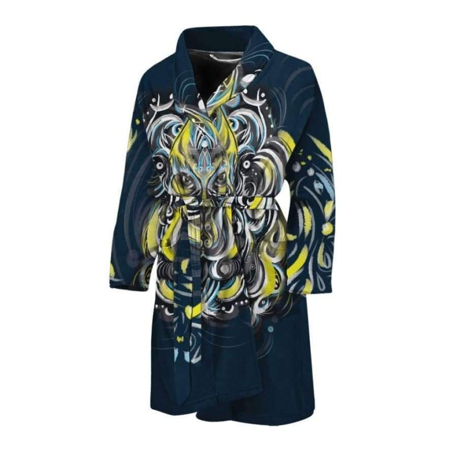Mystic Owl Men's Bath Robe Bath Robe SHAPE meets COLOR