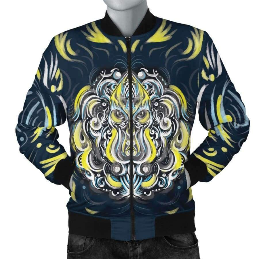 Mystic Owl Men's Bomber Jacket Bomber Jacket SHAPE meets COLOR