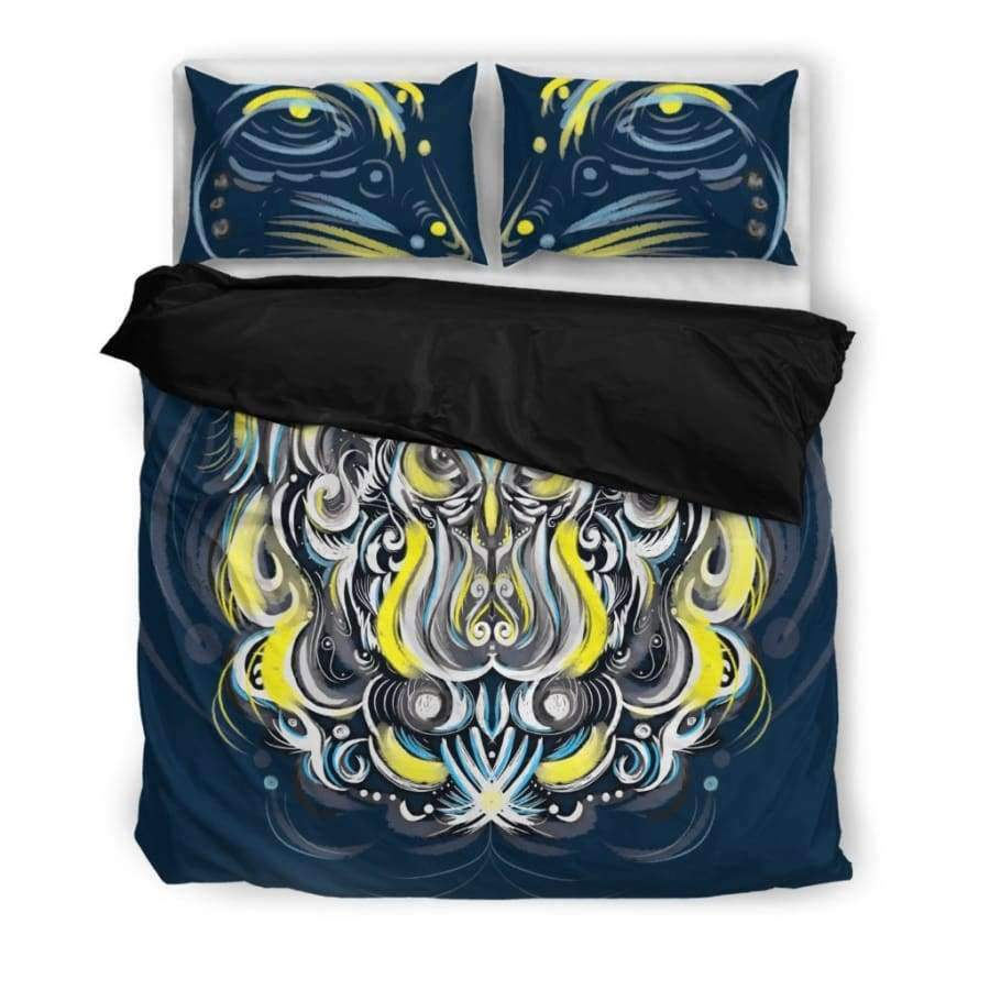 Mystic Owl Yellow Bedding Set Bedding Set SHAPE meets COLOR