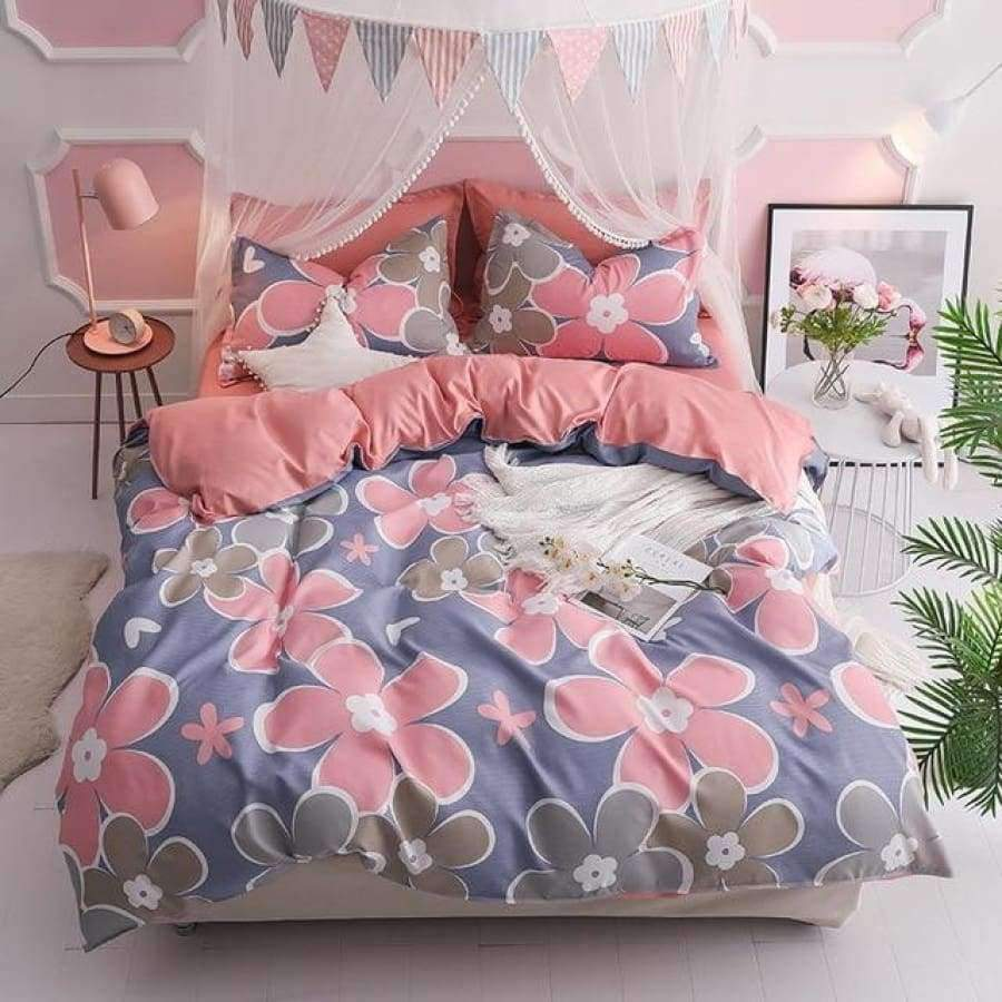 Pink Life Bedding set SHAPE meets COLOR Twin 3PCS