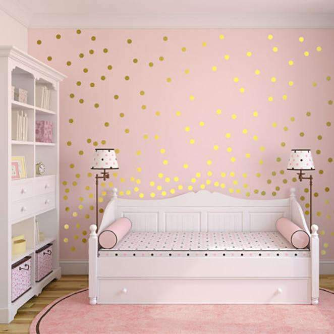Removable Polka Dots Wall Sticker to Decorate Your Home SHAPE meets COLOR