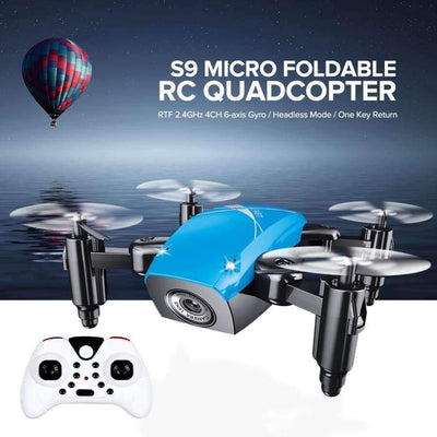 S9HW Foldable RC Mini Drone - RC Pocket Drone With HD Camera - Altitude Hold - Wifi/FPV/FSWB SHAPE meets COLOR