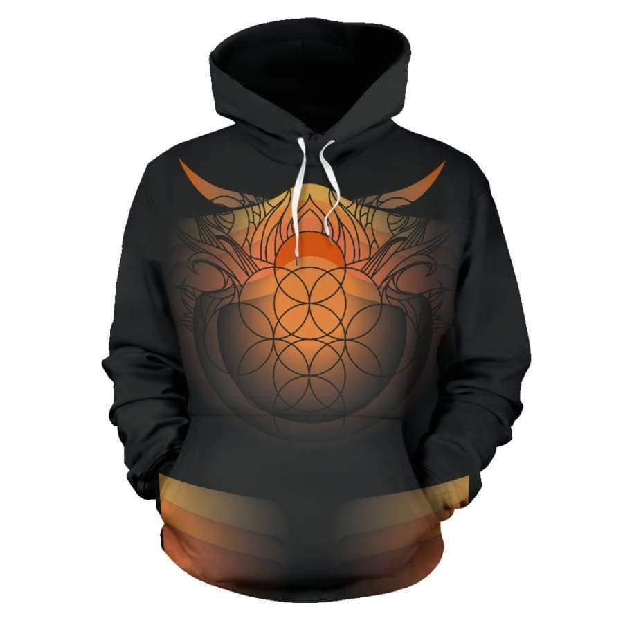 Sacred Funky Flames All Over Hoodie (Women, Men, Youth) Hoodies SHAPE meets COLOR