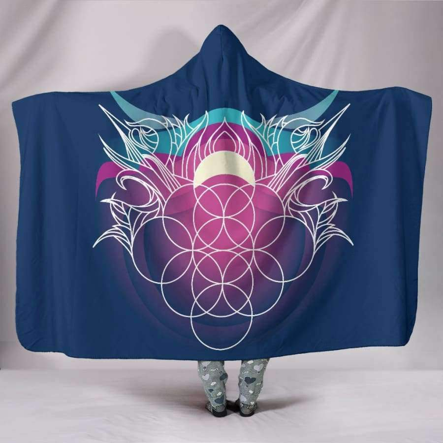 Sacred Funky Hooded Blanket Hooded Blanket SHAPE meets COLOR