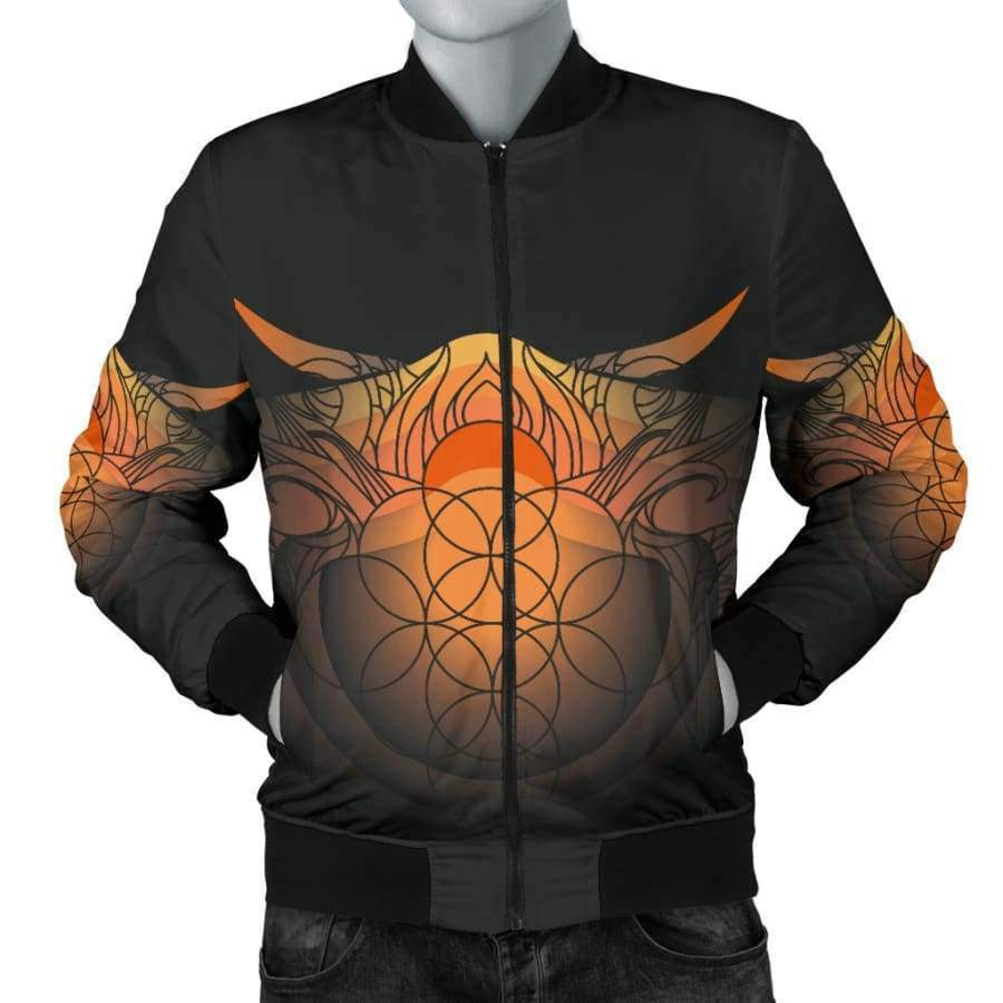 Sacred Funky Men's Bomber Jacket Bomber Jacket SHAPE meets COLOR