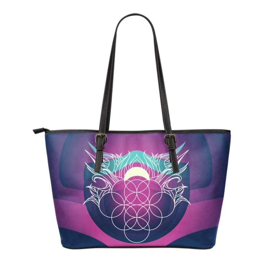 Sacred Funky Small Leather Tote Bag Leather Tote SHAPE meets COLOR