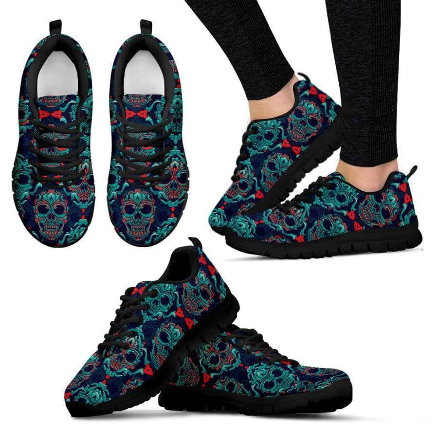 Skull Women's Black Sneakers Sneakers SHAPE meets COLOR