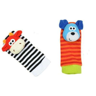 Sozzy Baby Socks & Wrist Rattle - See Product Variations SHAPE meets COLOR 2pcs kid socks 1