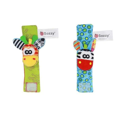 Sozzy Baby Socks & Wrist Rattle - See Product Variations SHAPE meets COLOR 2pcs wrist rattle