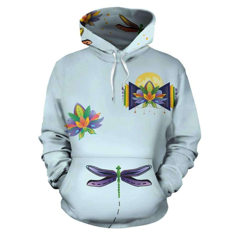 Spiritual Lotus All Over Hoodie (Women, Men, Youth) Hoodies SHAPE meets COLOR