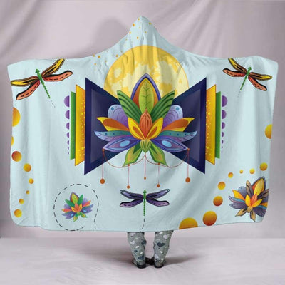 Spiritual Lotus Hooded Blanket Hooded Blanket SHAPE meets COLOR