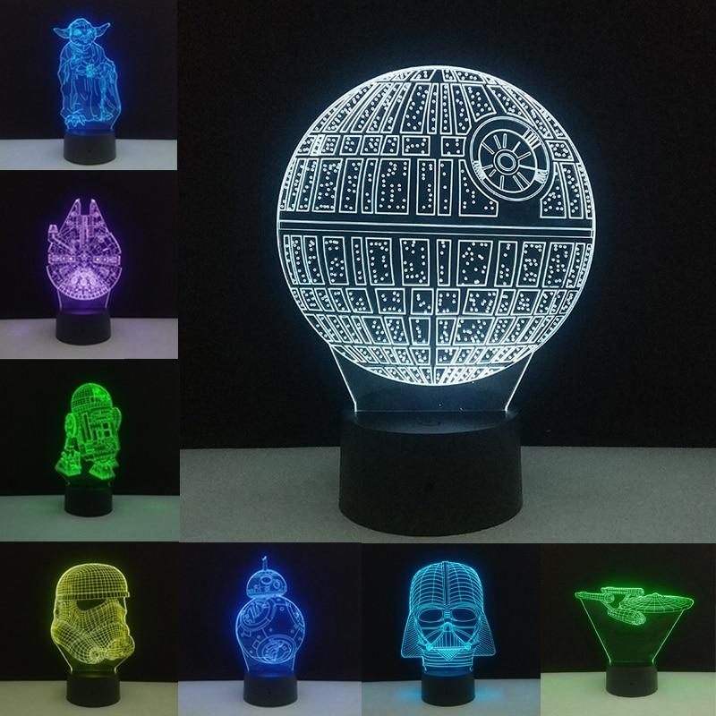 Star Wars 3D Night Lights SHAPE meets COLOR