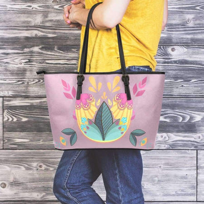Sunshine Boom Large Leather Tote Bag Leather Tote SHAPE meets COLOR