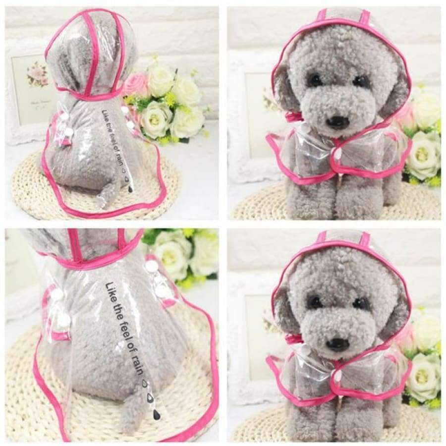 Transparent Pet Dogs Raincoat SHAPE meets COLOR