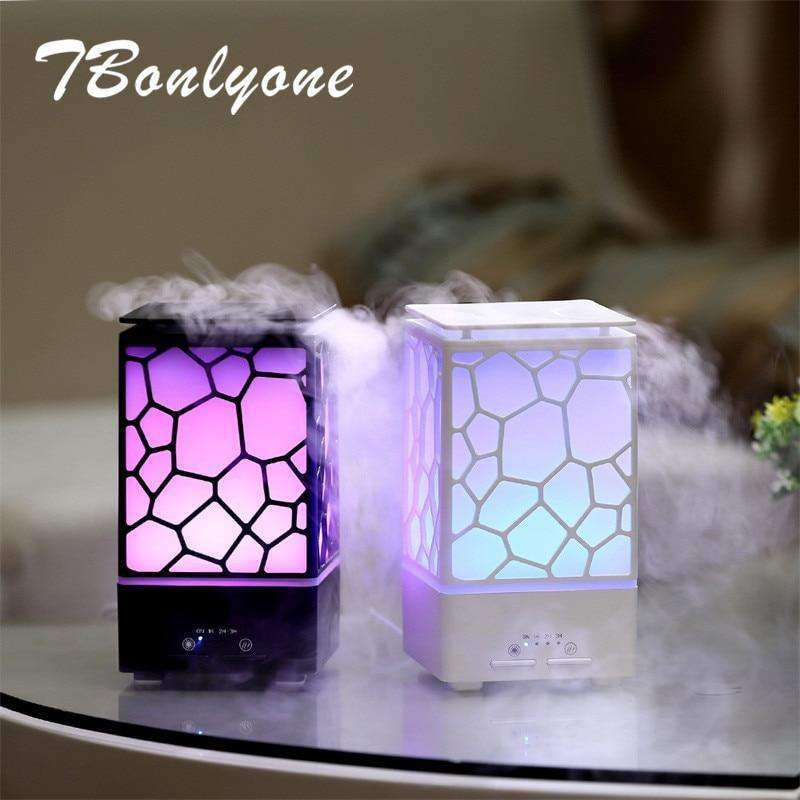 Ultrasonic Air Humidifier - Essential Oil Diffuser and Night Lamp SHAPE meets COLOR