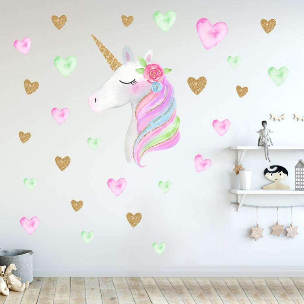 Unicorn Wall Stickers for Decoration SHAPE meets COLOR