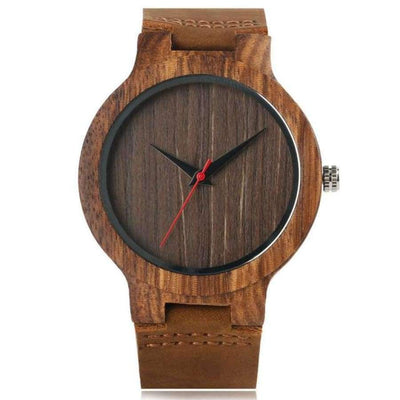 YISUYA Wooden Bamboo Men's Watch SHAPE meets COLOR Coffee Dial