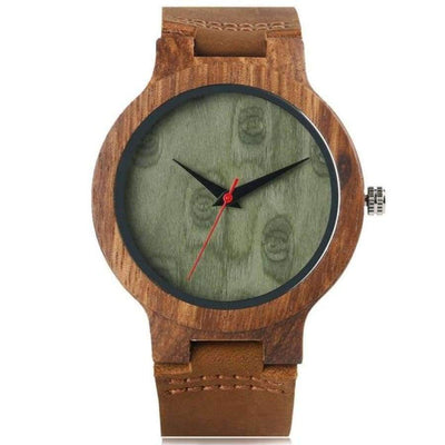 YISUYA Wooden Bamboo Men's Watch SHAPE meets COLOR Green Dial