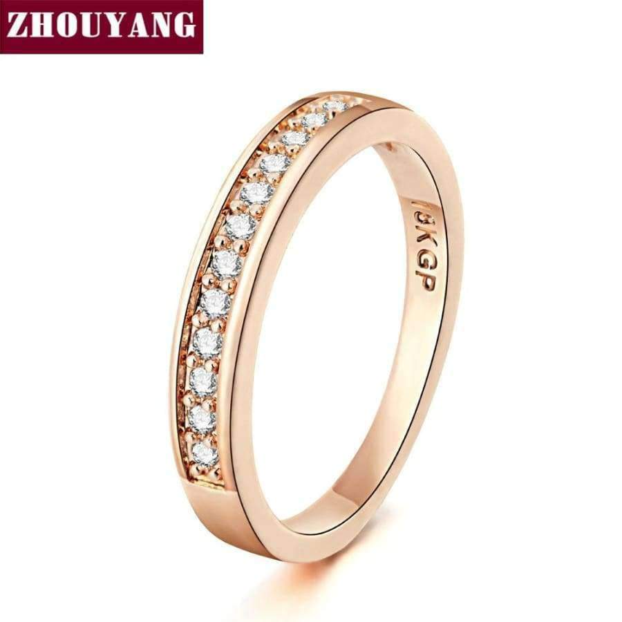 ZHOUYANG Ring For Women - Micro-inserts - Cubic Zirconia SHAPE meets COLOR