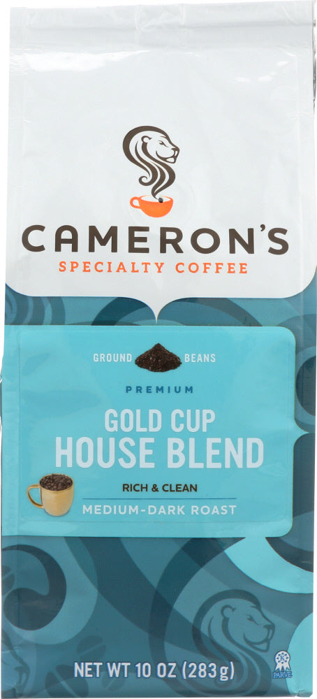 CAMERONS COFFEE: House Blend Ground Coffee, 10 oz