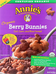 ANNIES HOMEGROWN: Organic Berry Bunnies Cereal, 10 oz