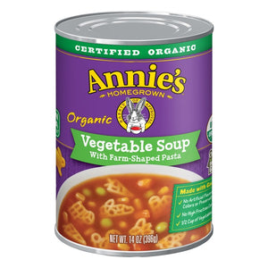 ANNIES HOMEGROWN: Soup Vegetable with Farm-Shaped Pasta, 14 oz