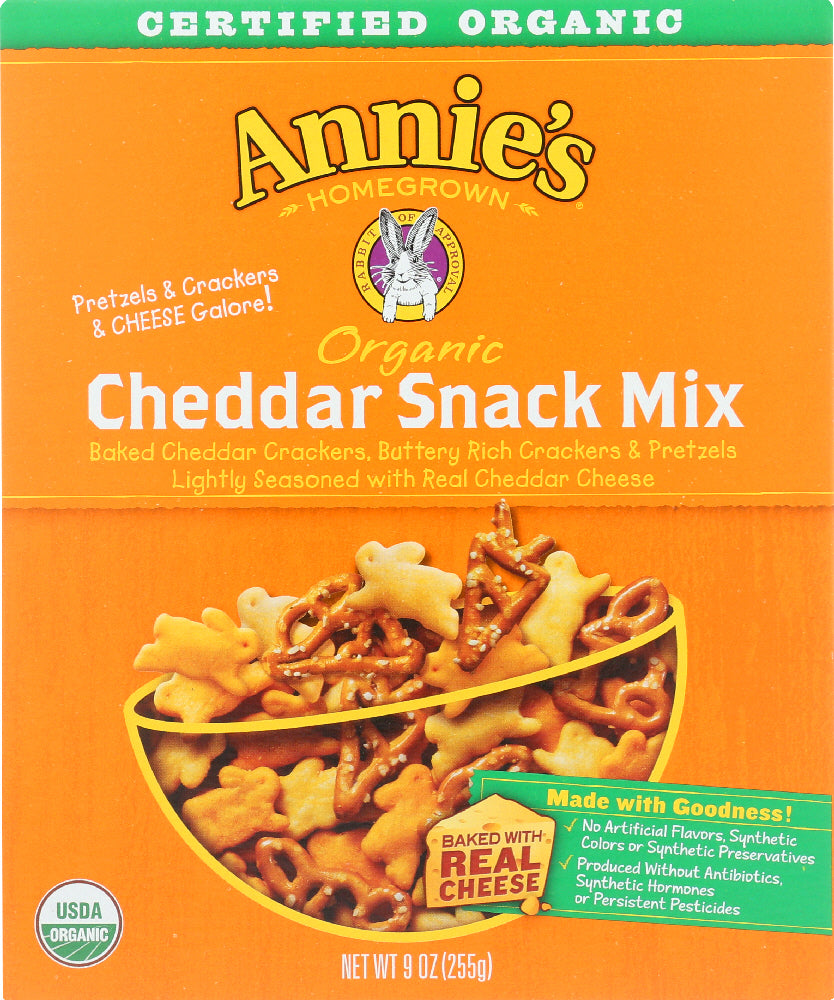 ANNIE'S HOMEGROWN: Organic Cheddar Snack Mix, 9 oz