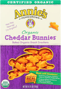 ANNIE'S HOMEGROWN: Organic Cheddar Bunnies Crackers, 6.75 oz