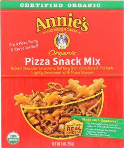 ANNIES HOMEGROWN: Organic Pizza Snack Mix, 9 oz