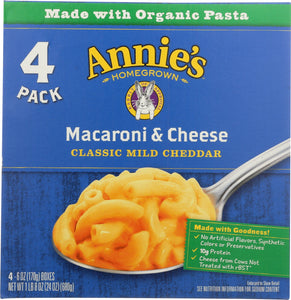 ANNIES HOMEGROWN: Macaroni & Cheese Classic Mild Cheddar, 24 oz