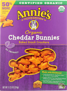 ANNIES HOMEGROWN: Cheddar Bunny Big Box Organic, 11.25 oz