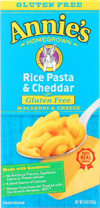 ANNIE'S HOMEGROWN: Gluten Free Rice Pasta and Cheddar Mac and Cheese, 6 oz