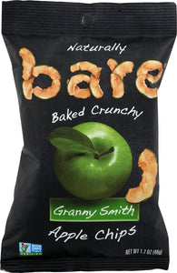 BARE: 100% Natural Crunchy Apple Chips Granny Smith, 1.69 oz