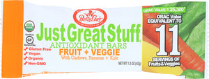 BETTY LOUS: Energy Bar Fruit & Veggie, 1.25