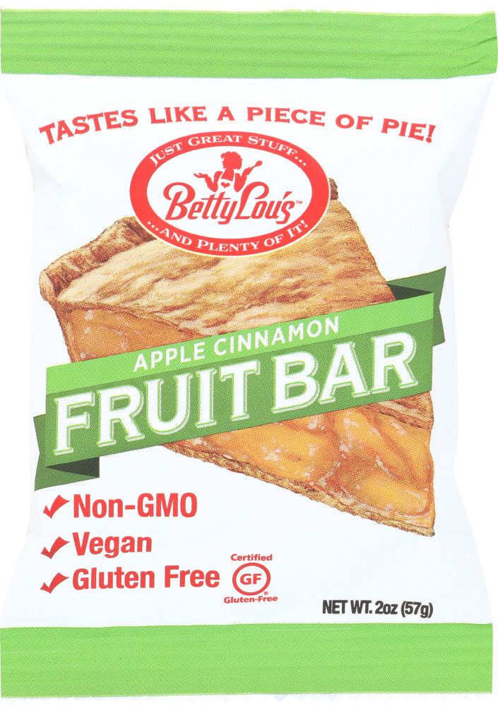 BETTY LOUS: Apple Cinnamon Fruit Bar, 2 oz