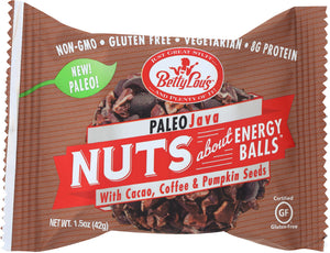 BETTY LOUS: Paleo Java Energy Balls , 1.5 oz