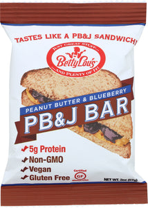 BETTY LOUS: PB&J Bar Blueberry, 2 oz