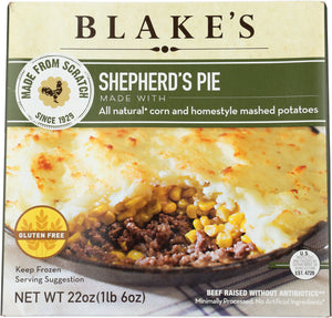 BLAKES: Frozen Pie Sheperd Family Size, 22 oz