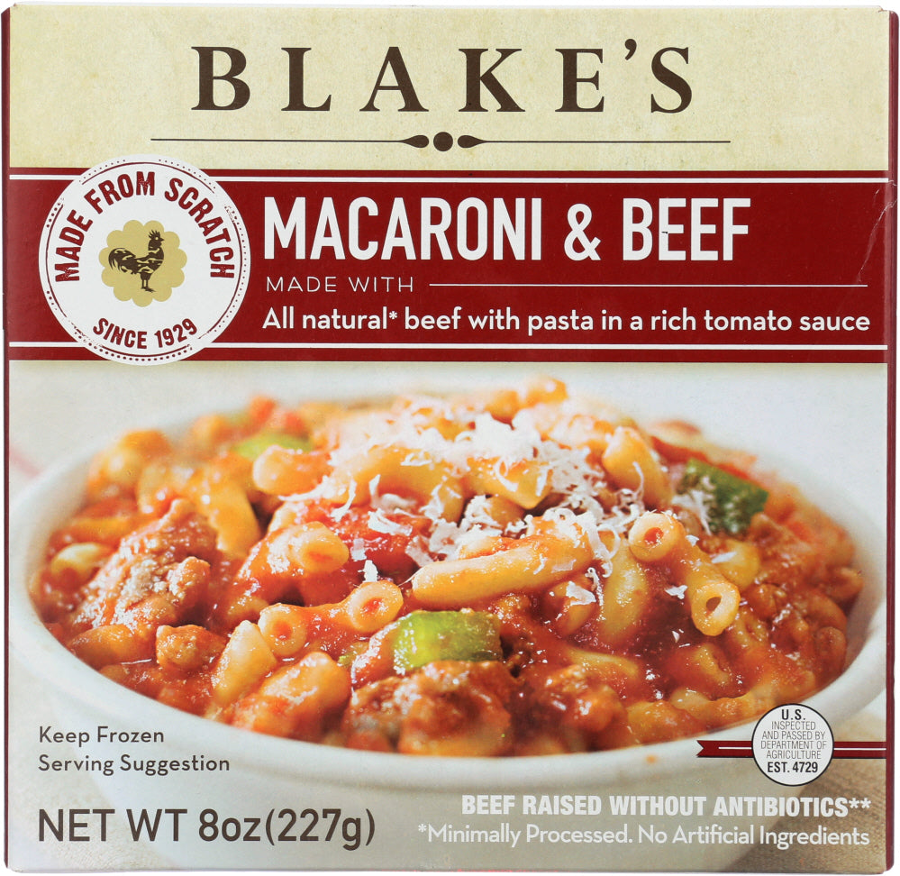 BLAKES: Macaroni and Beef All Natural, 8 oz