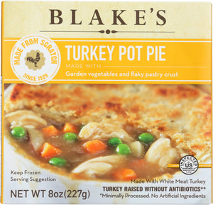 BLAKES: Frozen Pot Pie Turkey All Natural, 8 oz