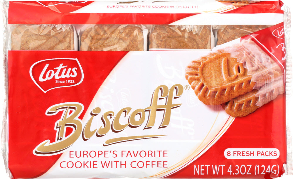 BISCOFF: Europe's Favorite Cookie with Coffee, 4.3 oz