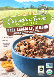 CASCADIAN FARM: Dark Chocolate Almond Granola, 13.25 oz