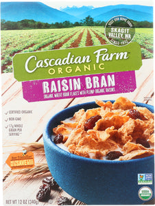 CASCADIAN FARM: Raisin Bran Cereal, 12 oz