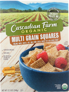 CASCADIAN FARM: Multi Grain Squares Cereal, 12.3 oz