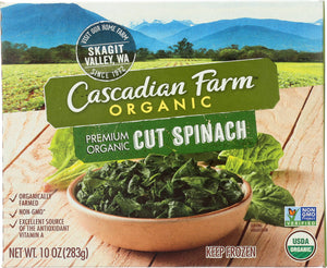 CASCADIAN FARMS: Cut Spinach, 10 oz